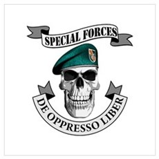 Special Forces Skull Poster