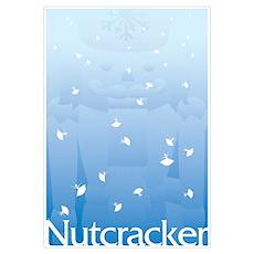 Nutcracker Snowflake Ballerinas Poster