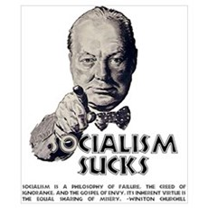 Socialism Sucks with Quote Poster