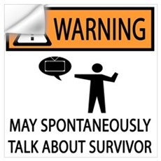 Spontaneously Talk Survivor Wall Decal