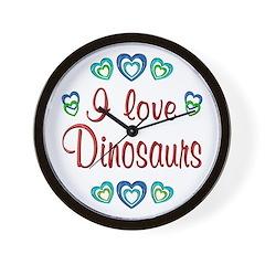 I Love Dinosaurs Wall Clock