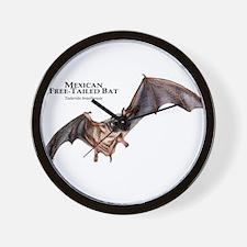 Mexican Free-Tailed Bat Wall Clock
