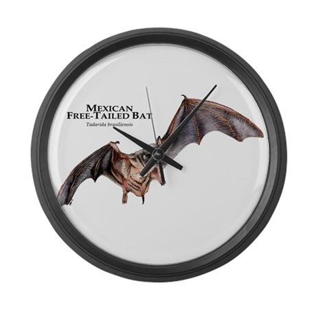Mexican Free-Tailed Bat Large Wall Clock