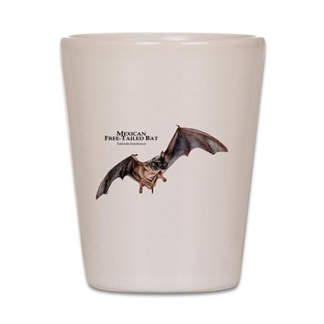 Mexican Free-Tailed Bat Shot Glass