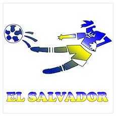 El Salvador Soccer Player Poster
