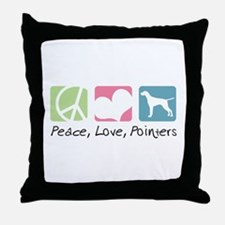 Peace, Love, Pointers Throw Pillow