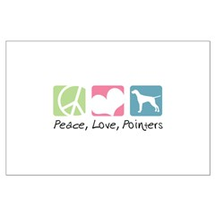 Peace, Love, Pointers Posters