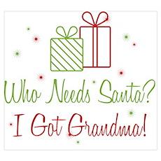 Who Needs Santa Grandma Poster