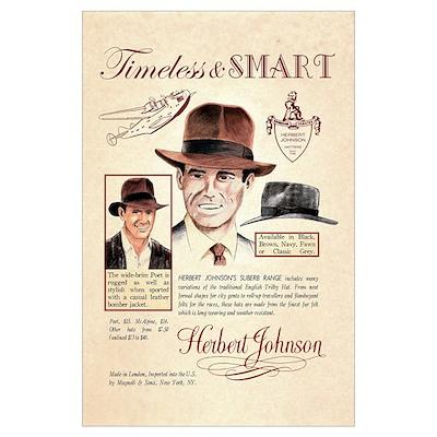 Vintage Fedora Hat Advertisement Poster