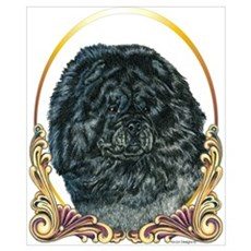 Black Chow Holiday/Christmas Poster