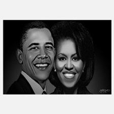 The President and First Lady (Black and White)