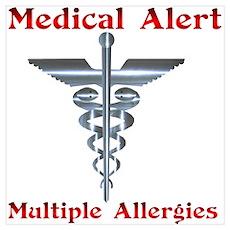 Medical Alert Multiple Drug A Poster