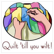 Quilt till you wilt Canvas Art