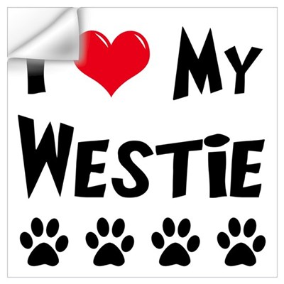 I Love My Westie Wall Decal