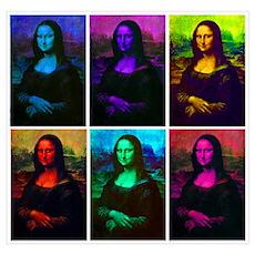 Mona Lisa Multicolor Poster