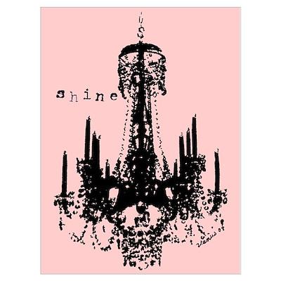 Pink Chandelier Poster