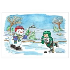 Hockey Holidays! Framed Print