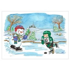 Hockey Holidays! Poster
