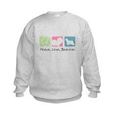 Peace, Love, Beardies Sweatshirt