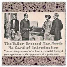 Edwardian Tailor Ad Poster