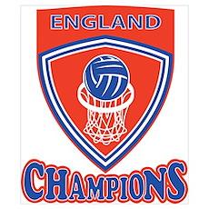 Netball England Champions Poster