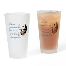 Bunny Principles BL Hor Drinking Glass