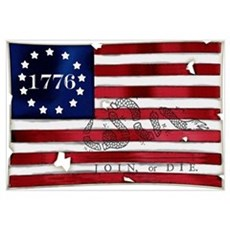 1776 American Flag Canvas Art