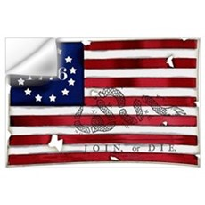 1776 American Flag Wall Decal