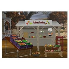 The Vegetable Stand 14x10 Poster