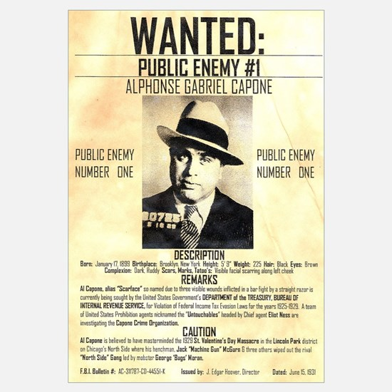 Wanted Al Capone
