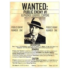 Wanted Al Capone Framed Print