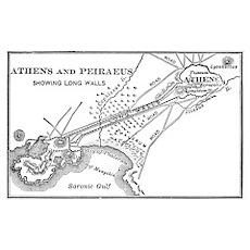 Athens and Piraeus Map Poster