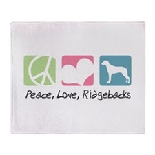 Peace, Love, Ridgebacks Throw Blanket