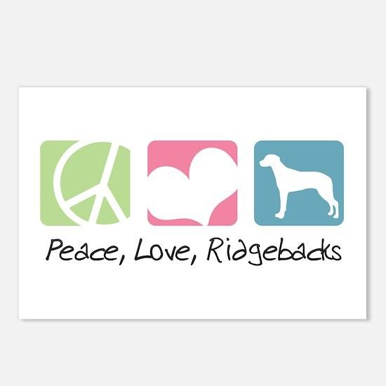 Peace, Love, Ridgebacks Postcards (Package of 8)