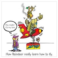 How Reindeer Really Learn How Poster
