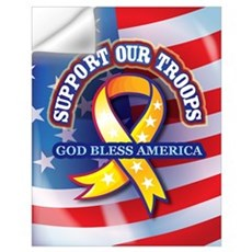 Support Our Troops Wall Decal