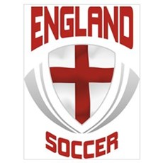 Soccer Crest ENGLAND Canvas Art