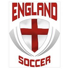 Soccer Crest ENGLAND Poster
