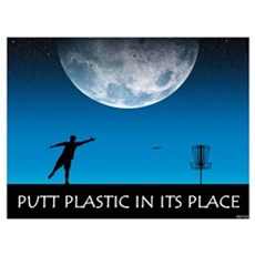 Putt Plastic In Its Place Canvas Art