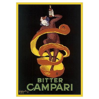 Bitter Campari Vintage Poster