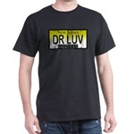 DR LUV NJ Vanity Plate Black T-Shirt