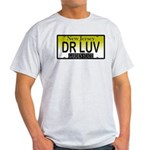 DR LUV NJ Vanity Plate Ash Grey T-Shirt
