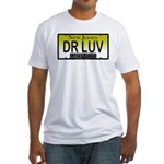DR LUV NJ Vanity Plate Fitted T-Shirt