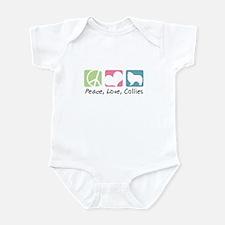 Peace, Love, Collies Infant Bodysuit