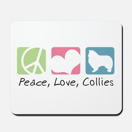 Peace, Love, Collies Mousepad