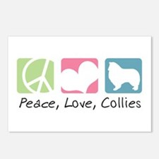 Peace, Love, Collies Postcards (Package of 8)