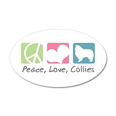 Peace, Love, Collies 22x14 Oval Wall Peel