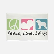 Peace, Love, Saints Rectangle Magnet