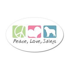 Peace, Love, Saints 22x14 Oval Wall Peel