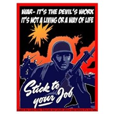 War it's the devils work Canvas Art